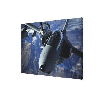 An Italian AMX is refueled by a KC-10A Extender Stretched Canvas Print