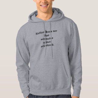 An item critical of a celibate priesthood. hoodie
