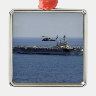 An MH-60S Seahawk helicopter Metal Ornament