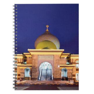 An Nur golden Mosque Pekanbaru, Sumatra Notebook