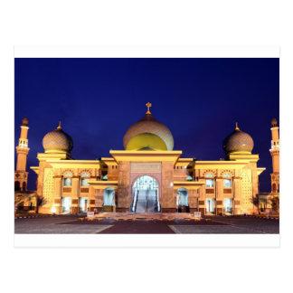 An Nur golden Mosque Pekanbaru, Sumatra Postcard