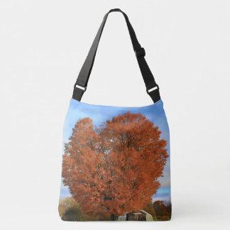 An Oak Tree in the Autumn Crossbody Bag