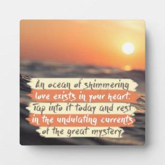 An Ocean Of Shimmering Love Plaque