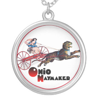 An Ohio Haymaker Silver Plated Necklace