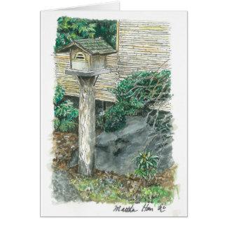 an old birdhouse card