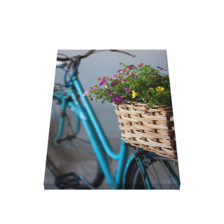 An Old Decorated Bicycle Canvas Print