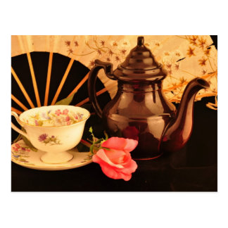 An Old-Fashioned Tea Time Post Card