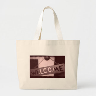 An Old Fashioned Welcome Jumbo Tote Bag