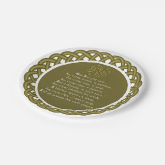 An Old Irish Prayer May God Give You Paper Plate