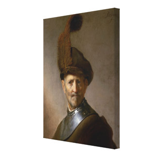 An Old Man in Military Costume c.1630 Gallery Wrap Canvas