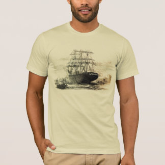 an old old wooden ship. T-Shirt