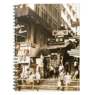 An Old Photo of the Streets of Hong Kong Notebook
