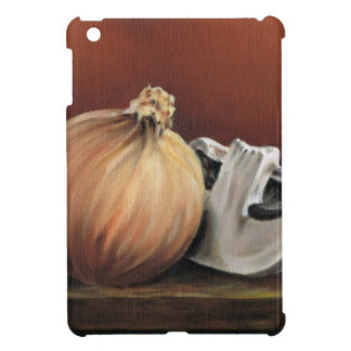 An onion and a mushroom iPad mini cover