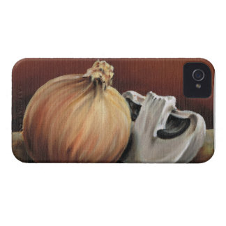 An onion and a mushroom iPhone 4 Case-Mate case