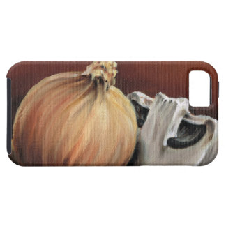 An onion and a mushroom iPhone 5 cases