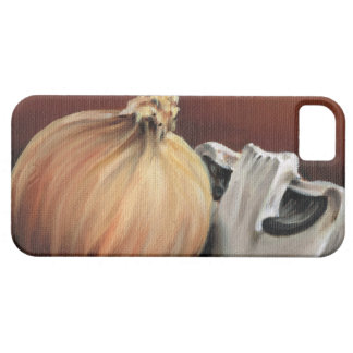 An onion and a mushroom iPhone 5 covers
