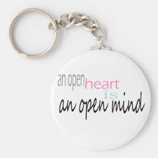 An open Heart is an open mind Key Ring
