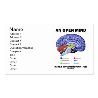 An Open Mind Is Key To Communication Brain Business Card Templates