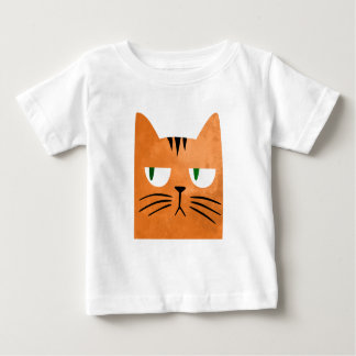 An orange cat with an attitude baby T-Shirt