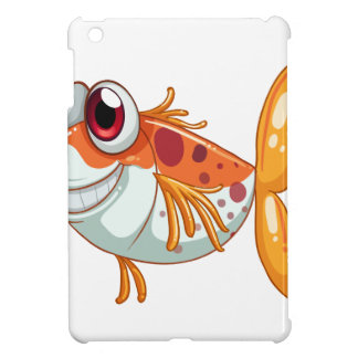 An orange fish with big eyes cover for the iPad mini
