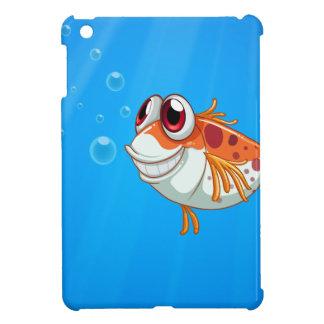 An orange fish with big eyes under the sea iPad mini case