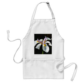 An Orchid With White Petals Standard Apron