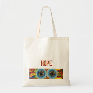 An organic fabric stock market with printed image budget tote bag