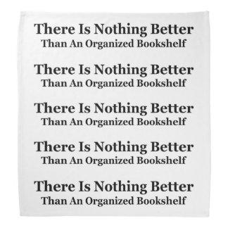 An Organized Bookshelf Bandana