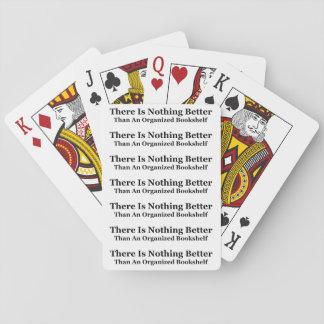 An Organized Bookshelf Playing Cards