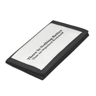 An Organized Bookshelf Trifold Wallets