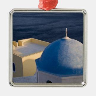 An Orthodox Church near the sea, Oia Santorini Metal Ornament