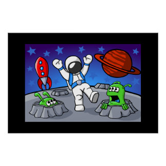 An Outer Space Adventure Poster