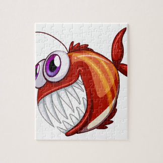 An ugly angry fish puzzle