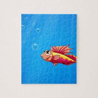 An ugly fish underwater jigsaw puzzle