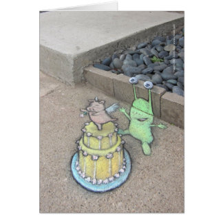 an unusual cake topper card