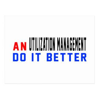 An Utilization management Do it better Postcard