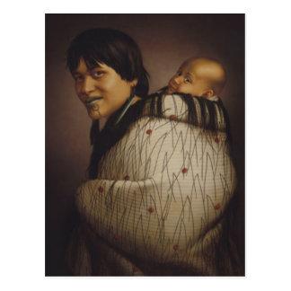 'Ana Rupene and Child' - G. Lindauer Postcard