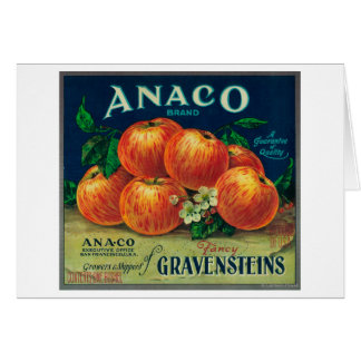 Anaco Apple Crate Label Card