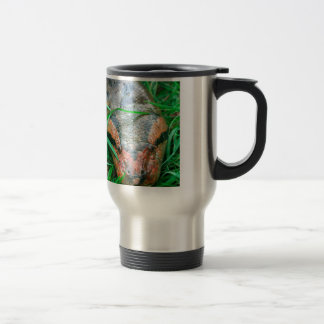 Anaconda snake Amazon Peru Travel Mug