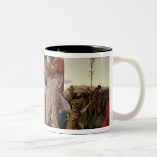 Anacreon, Bacchus and Aphrodite, 1848 Two-Tone Coffee Mug