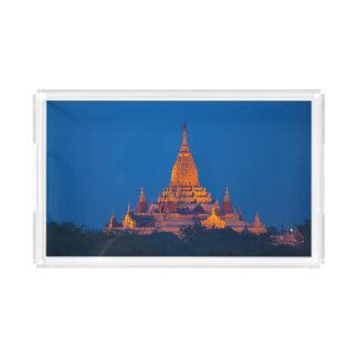 Anada Temple At Twilight Acrylic Tray