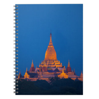 Anada Temple At Twilight Notebook