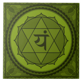 Anahata or Heart Chakra Large Square Tile