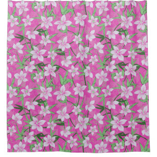 Anaina Hou Hawaiian Tropical Floral Shower Curtain