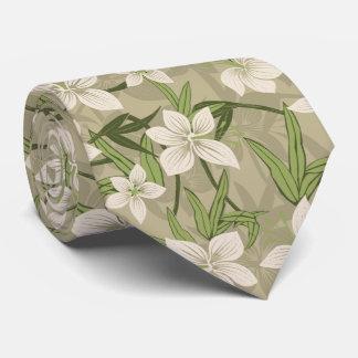 Anaina Hou Hawaiian Tropical Floral Two-Sided Tie