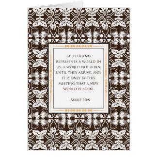 Anais Nin Friendship Card