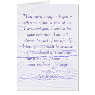 Anais Nin Quote Card