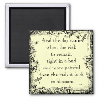 Anais Nin Risk Quote Magnet