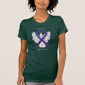 Anal Cancer Awareness Ribbon Angel Custom Shirts