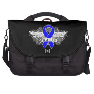 Anal Cancer Fighter Wings Laptop Commuter Bag